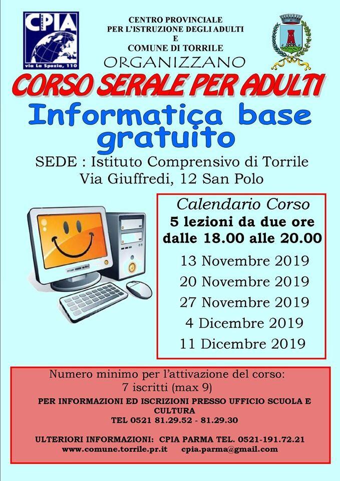 Corso serale per adulti a Torrile  - Corso di Informatica