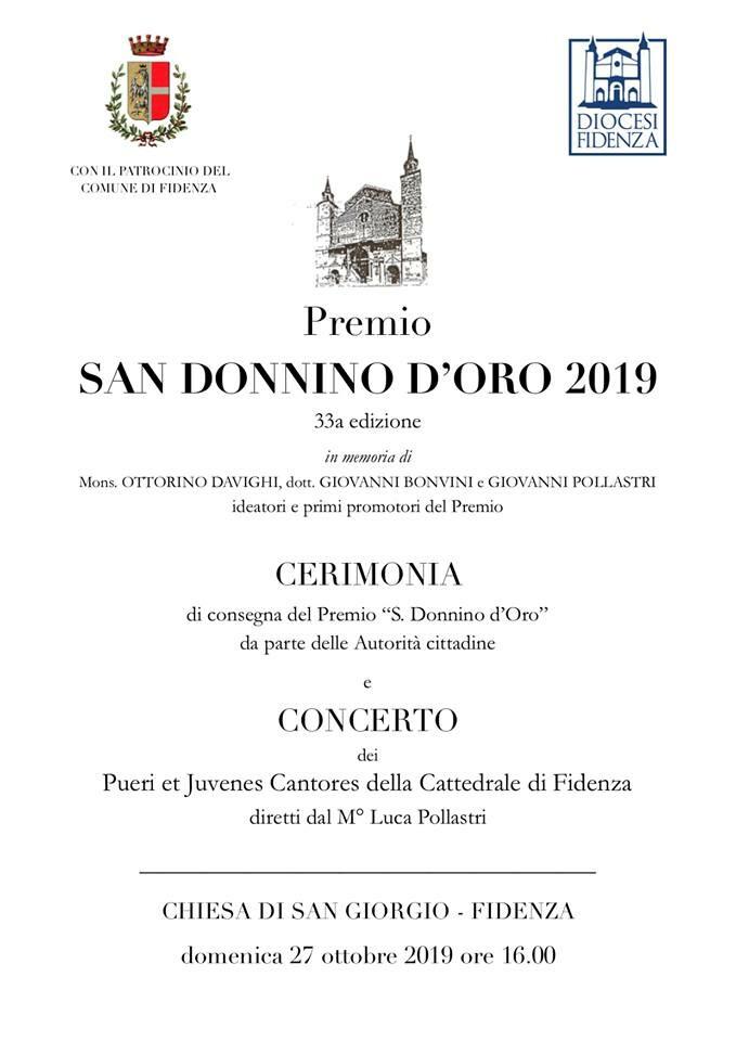 Cerimonia di Consegna del Premio San Donnino d'Oro e concerto