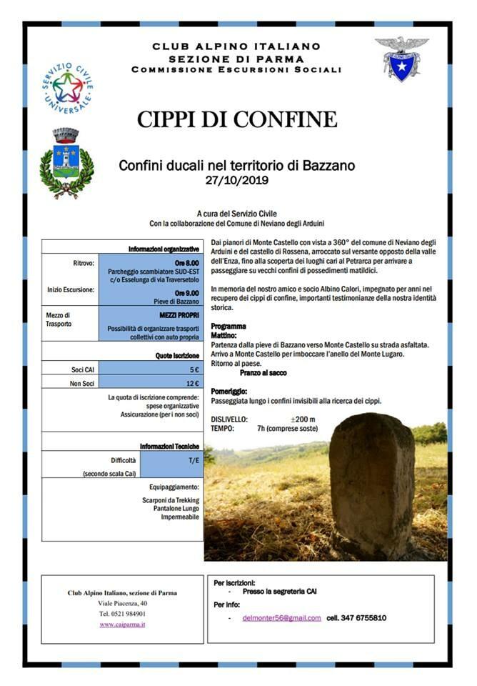 Escursione CIPPI DI CONFINE col CAI