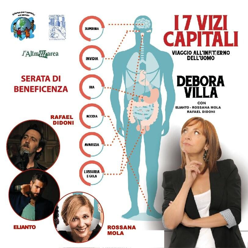 I 7 Vizi capitali con Debora Villa al teatro Magnani