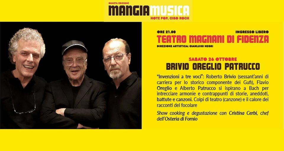 Mangiamusica 2019 prima serata: Brivio, Oreglio, Patrucco