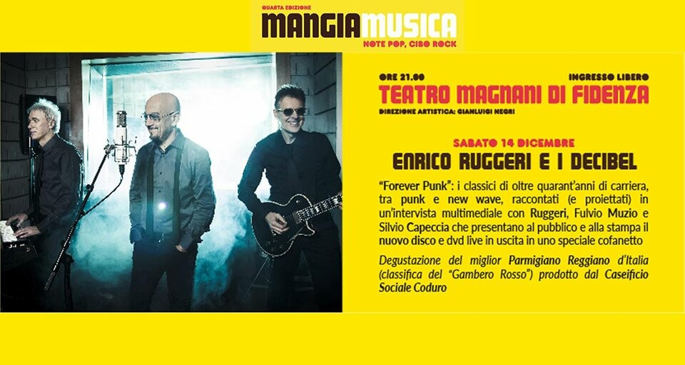 Mangiamusica 2019 quarta serata: Enrico Ruggeri e i Decibel