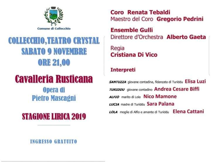 Cavalleria rusticana con il Coro Renata Tebaldi