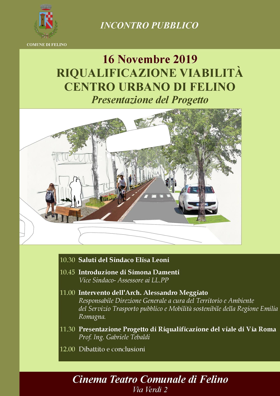 """""""Riqualificazione viabilità centro urbano di Felino"""": presentazione progetto"""