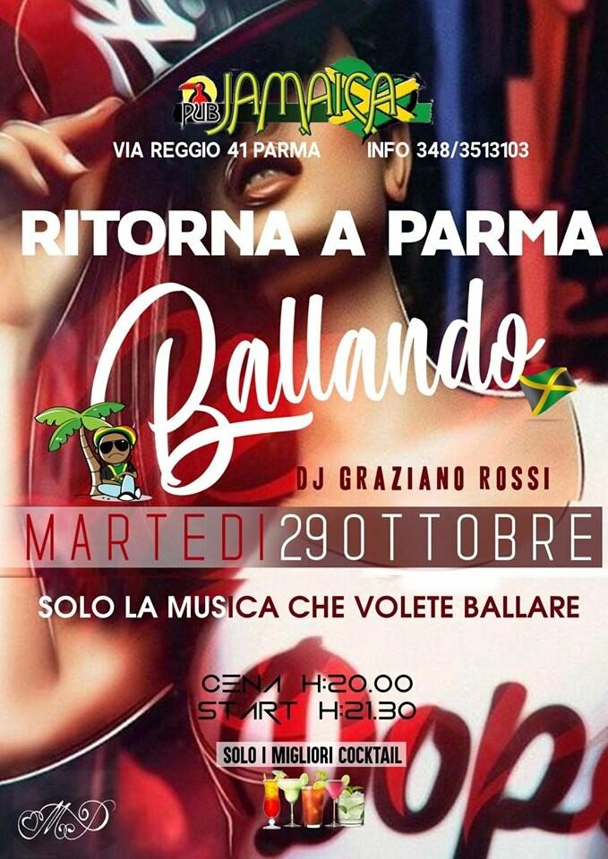 "Al JAMAICA PUB PARMA ""Ballando"", serata del 29 ottobre"
