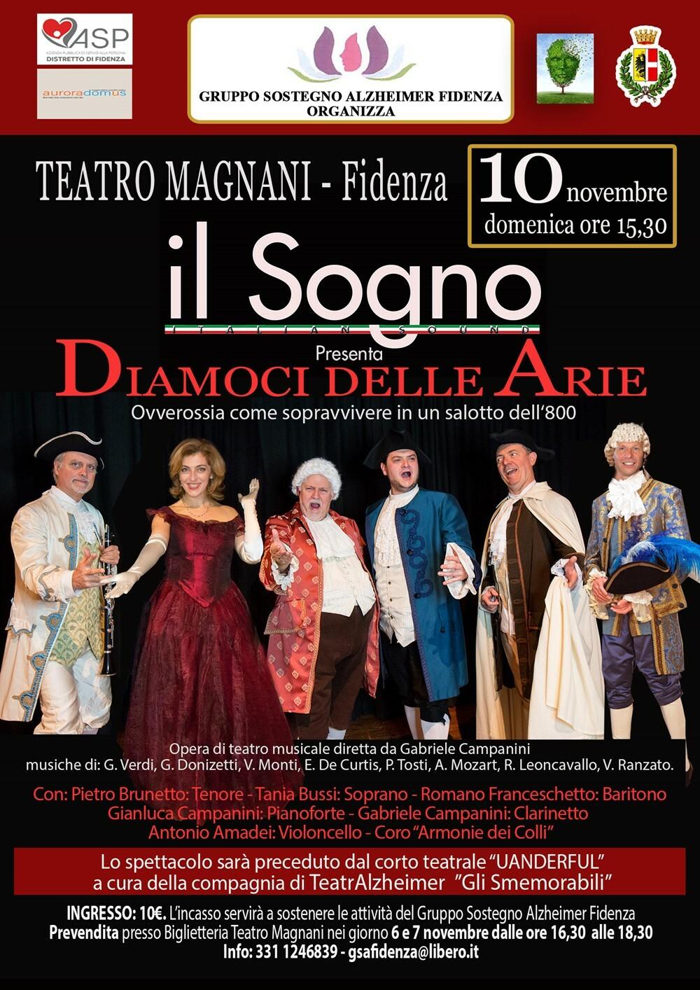 Diamoci delle Arie Il 10 novembre lo spettacolo proposto dal Gruppo Sostegno Alzheimer Fidenza