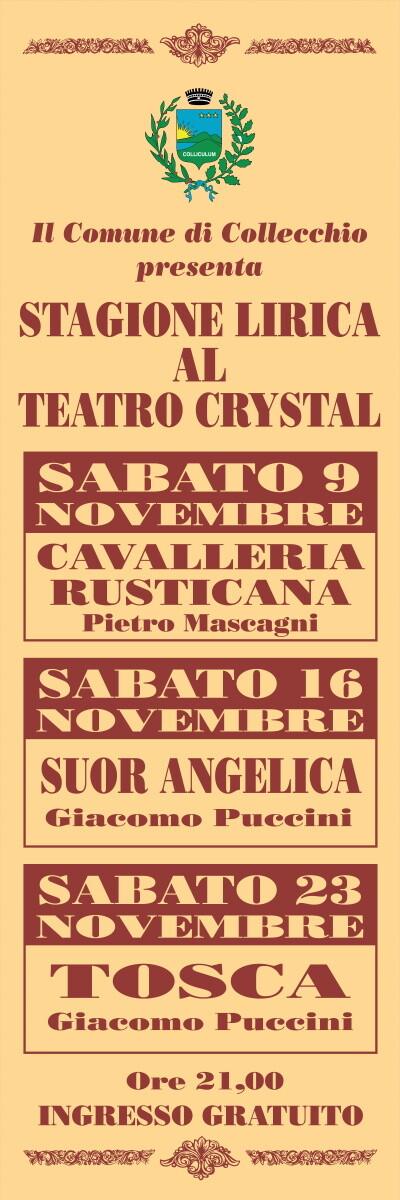 Nuova stagione lirica al Teatro Crystal