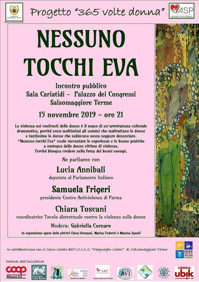 Nessuno tocchi Eva, incontro pubblico con Lucia Annibali