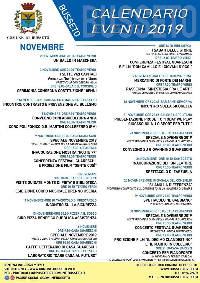 Eventi a Busseto nel mese di novembre