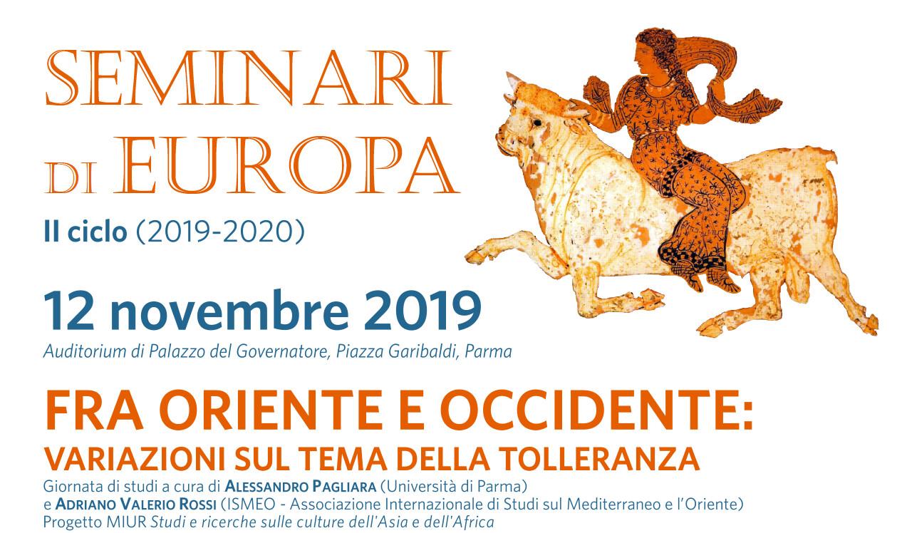 """PER I """"SEMINARI DI EUROPA"""" GIORNATA DI STUDI SULLA TOLLERANZA"""