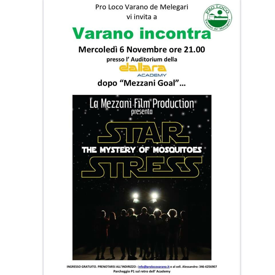 "La ""Mezzani film production presenta ""Star stress"