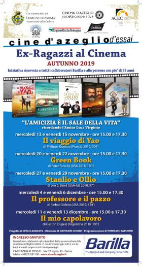 Ex Ragazzi al Cinema: programma autunnale