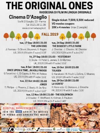 The original ones - rassegna di film in lingua originale al Cinema D'Azeglio