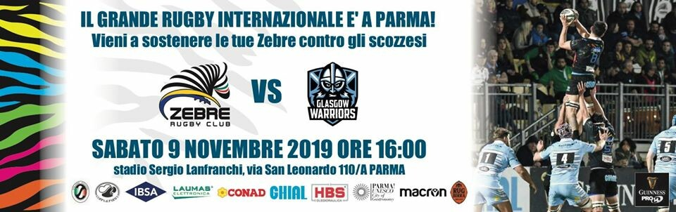 Guinness PRO14 2019/20 Rd 6: Zebre Rugby Vs Glasgow Warriors