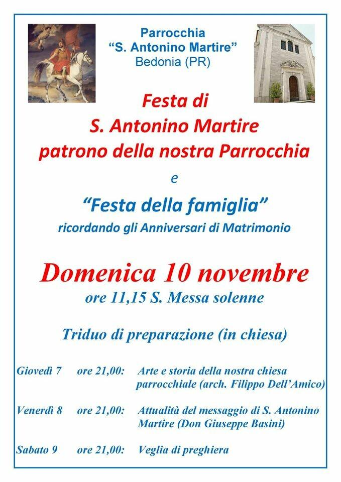 Festa di S. Antonino Martire e della famiglia