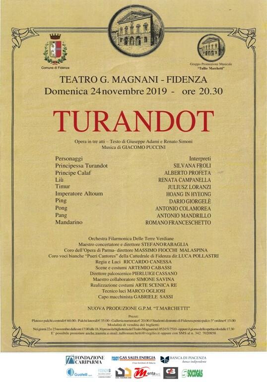 Stagione lirico-concertistica del Teatro Magnani: Turandot di Puccini