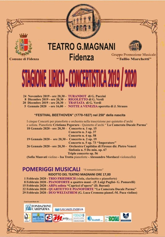 Stagione lirico-concertistica del Teatro Magnani: Pomeriggi musicali