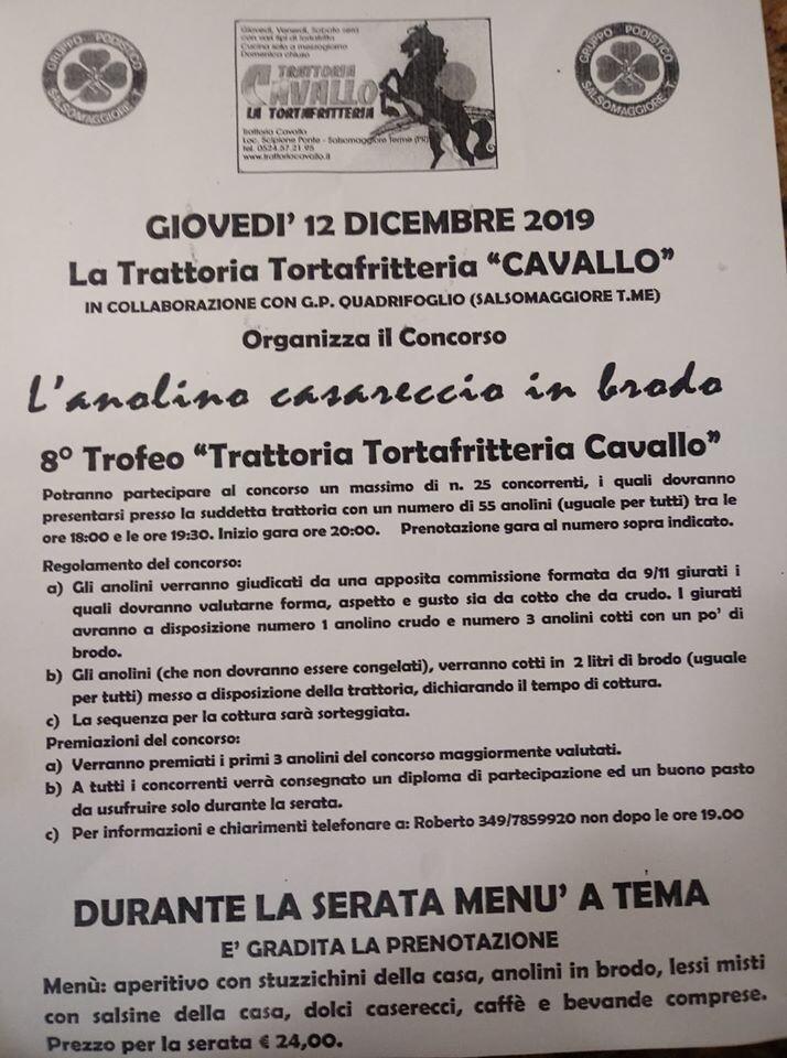 """L'anolino casareccio in brodo, 8° trofeo """"Trattoria tortafritteria Cavallo"""""""