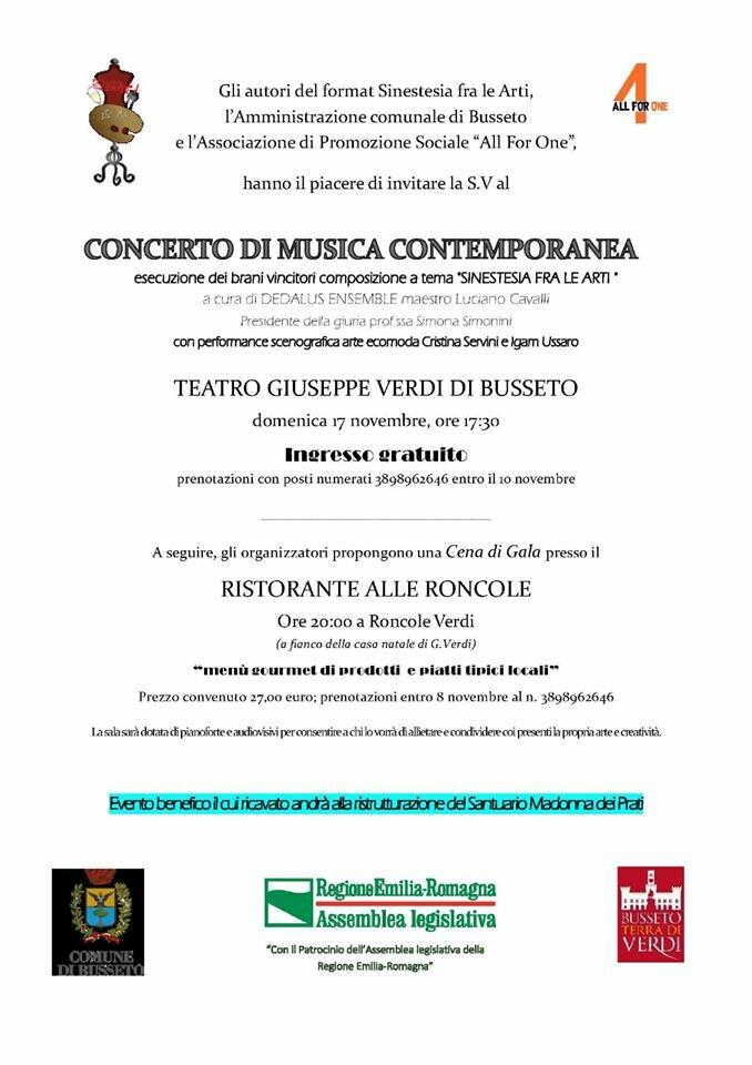Concerto di musica contemporanea al teatro Verdi