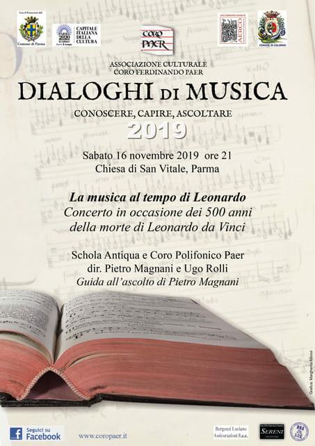 La musica al tempo di Leonardo nel 500esimo anniversario della sua morte col coro Paer