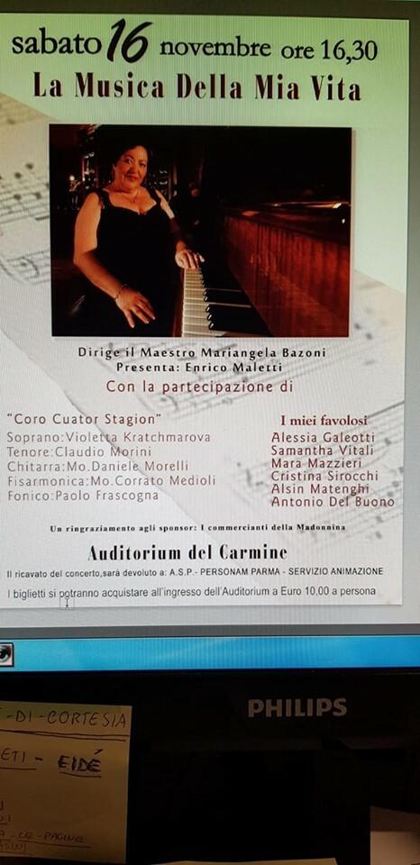 Concerto benefico diretto del Maestro Mariangela Bazoni