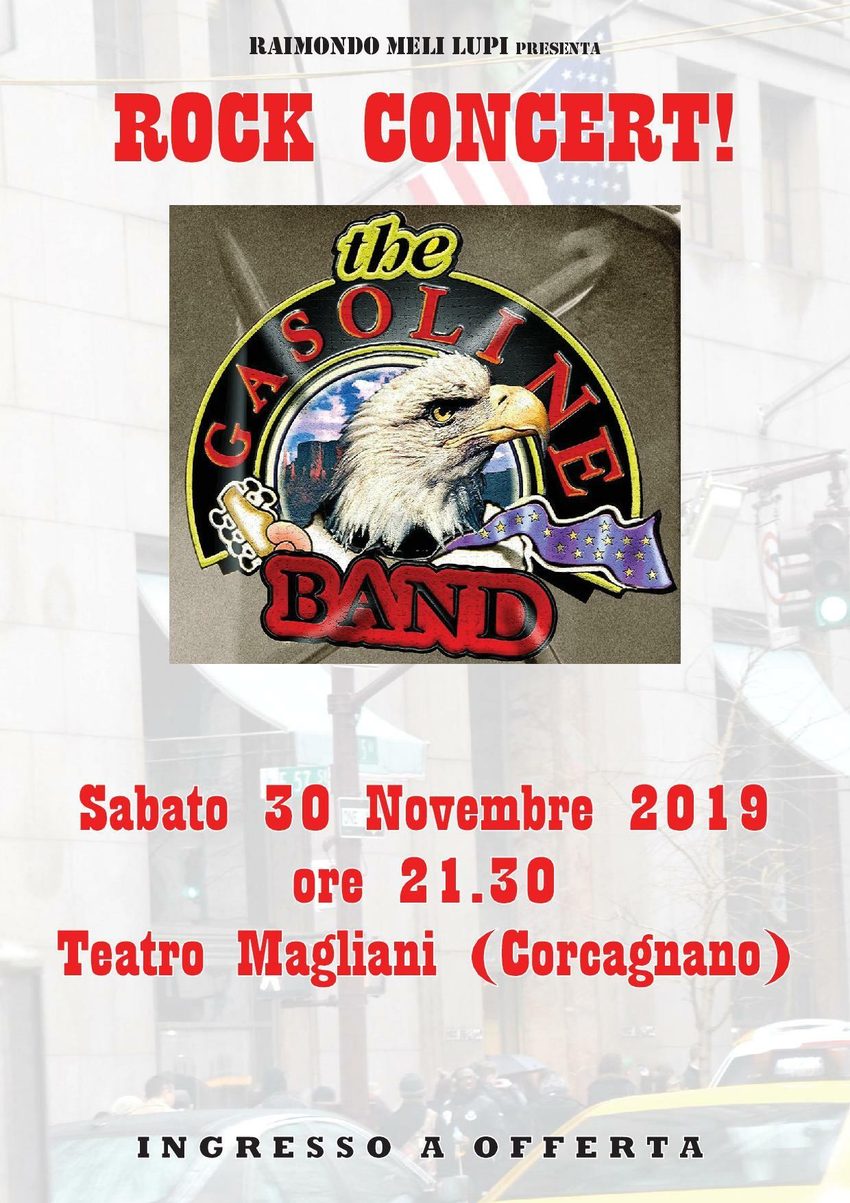 Gasoline band in concerto al Teatro  Magliani