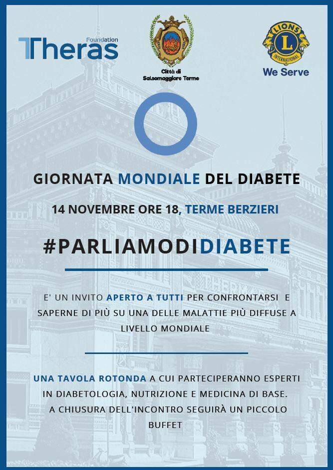 """""""Giornata mondiale del diabete"""" incontro alle Terme Berzieri"""