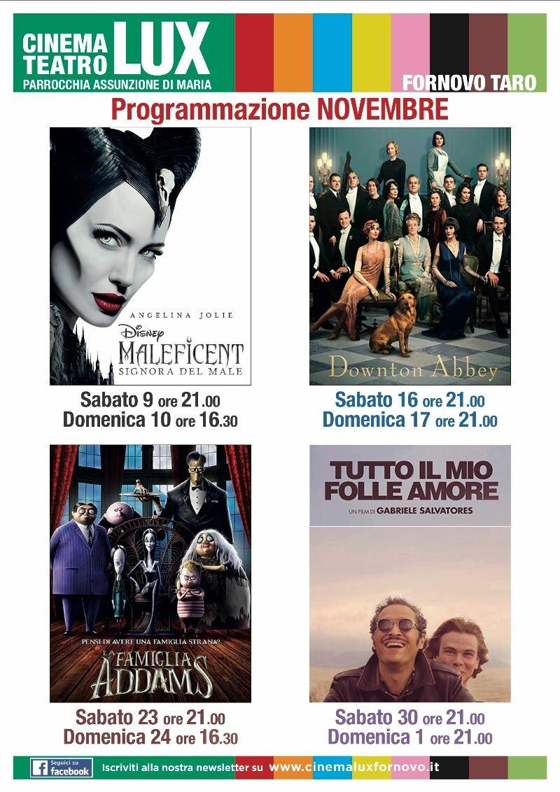 Programma del cinema LUX di novembre