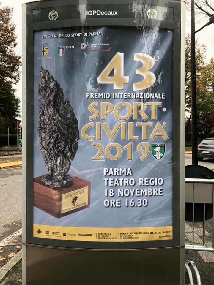 43° SPORT CIVILTA': biglietti per il premio