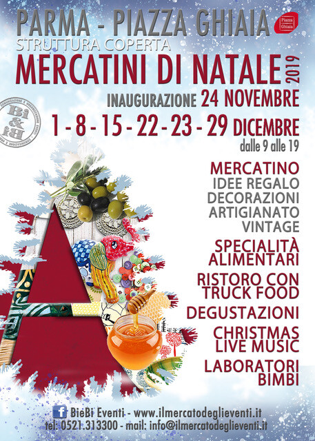 Mercatini di Natale 2019 in Piazza Ghiaia a Parma