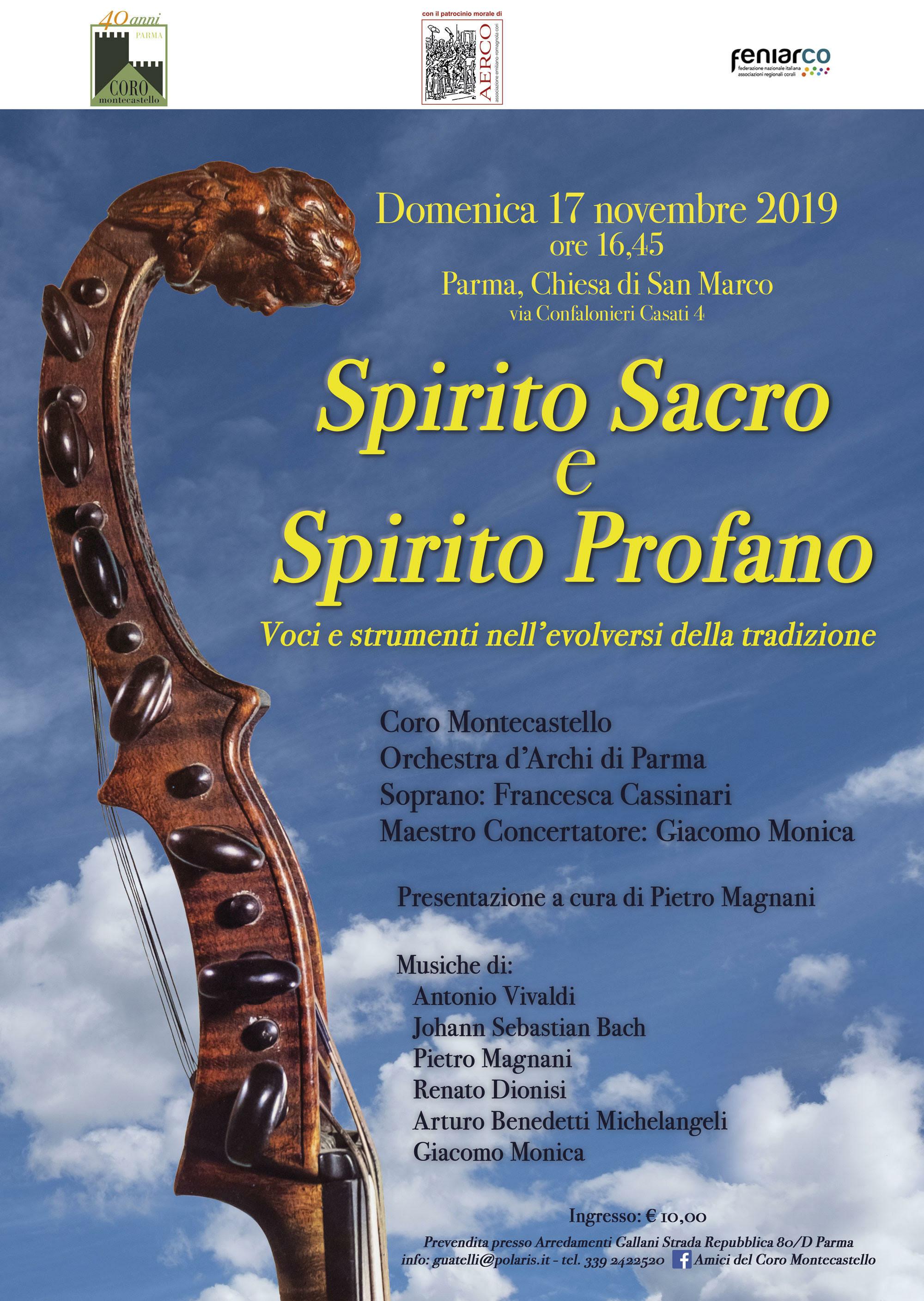"""""""Spirito cacro e spirito profano"""" Concerto nella Chiesa di San Marco del coro Montecastello"""