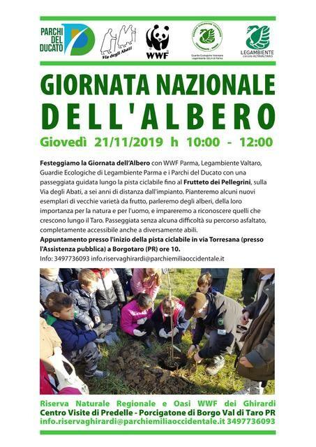 GIORNATA NAZIONALE DELL'ALBERO alla Riserva Naturale Regionale dei Ghirardi