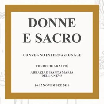 """Convegno Internazionale """"Donne e Sacro"""", a cura dell'Associazione Culturale Accademia degli Incogniti"""