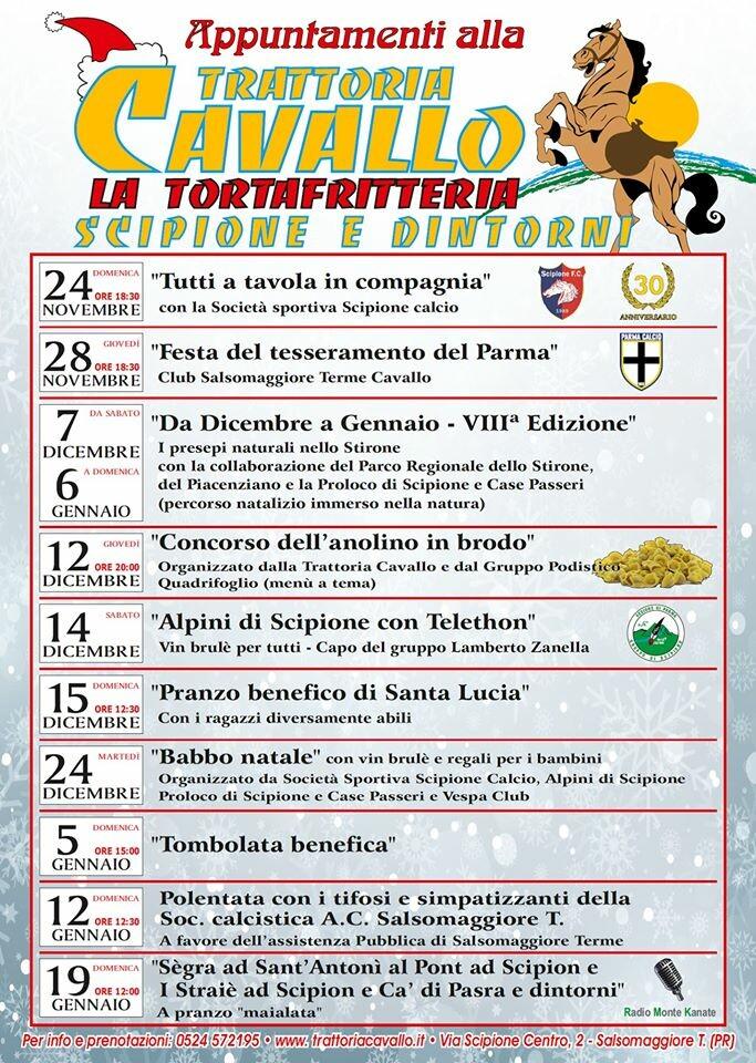 """Appuntamenti alla Trattoria Cavallo """"La Tortafritteria"""""""