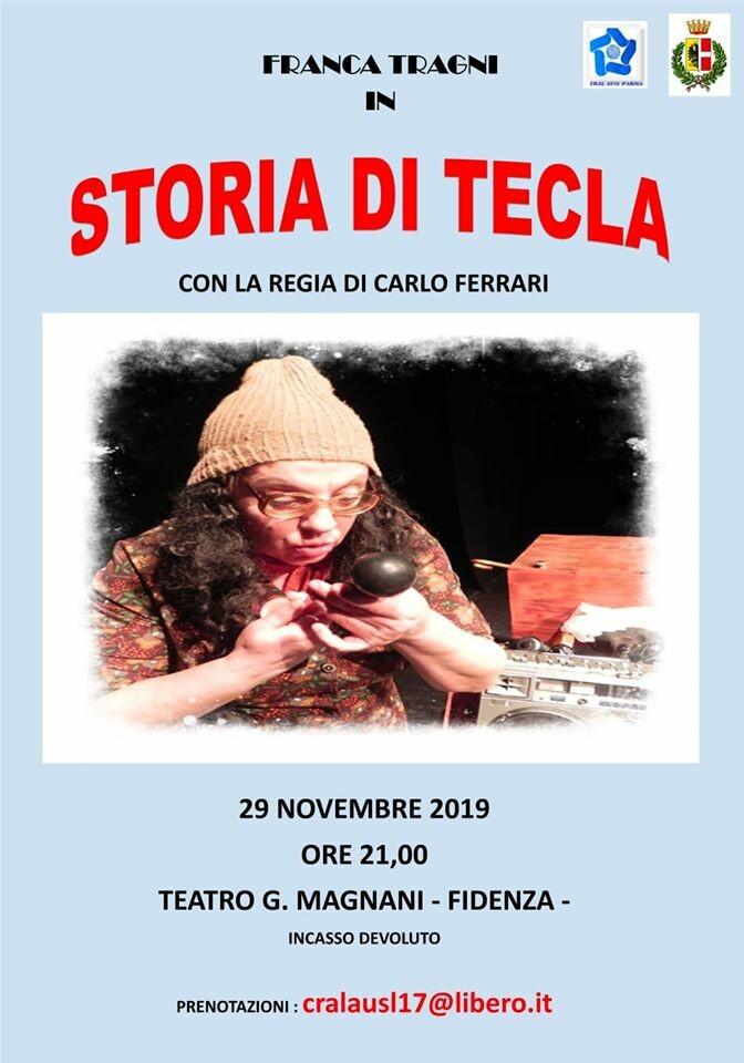 """""""Storia di Tecla"""" con l'attrice Franca Tragni al teatro Magnani"""