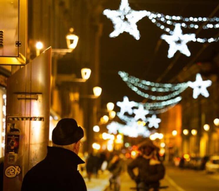 Accensione delle luci di Natale nel centro di Parma
