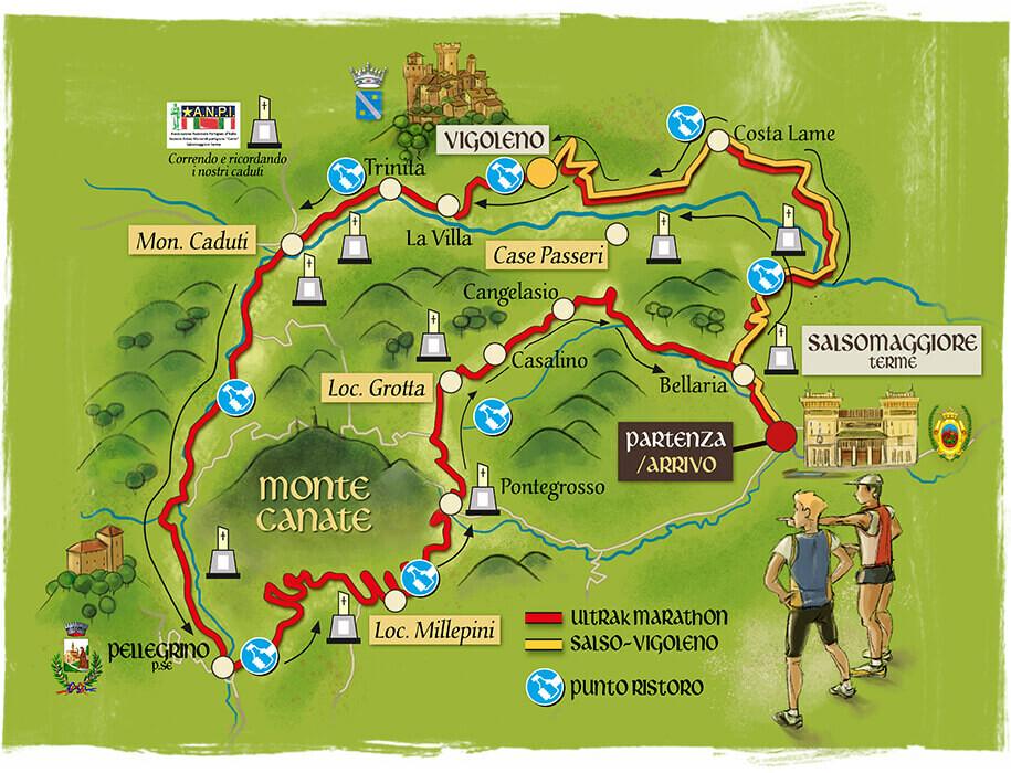 """13^ """"Ultra K Marathon 50 km""""  e """"Salso-Pellegrino"""" Gare di corse a piedi"""