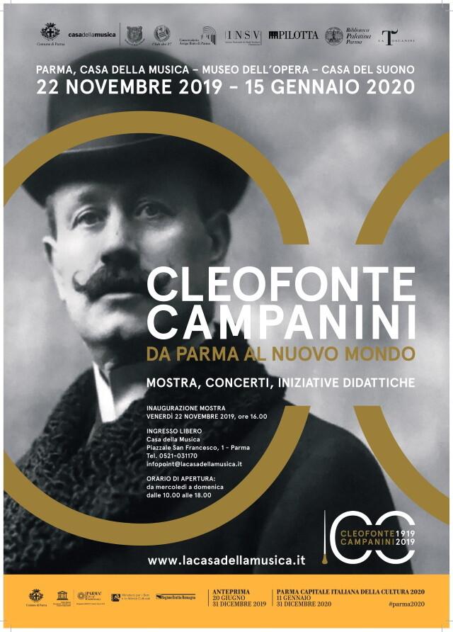 """""""Cleofonte Campanini, da Parma al Nuovo Mondo"""" :  eventi"""
