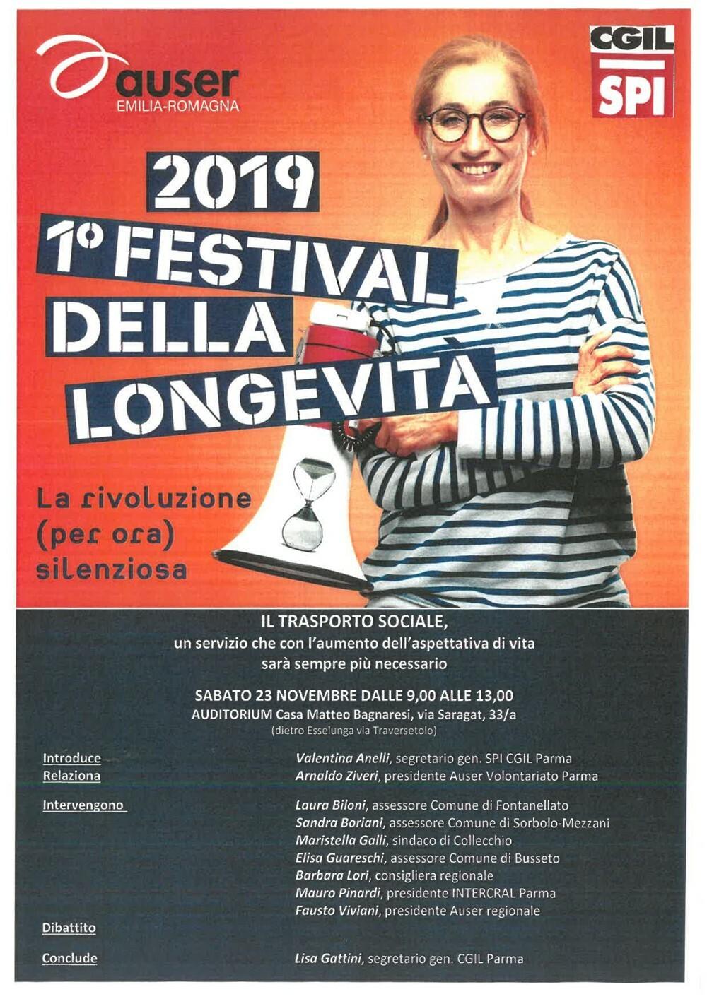 1° Festival della longevità Il 23 novembre un dibattito su trasporto sociale e invecchiamento della popolazione