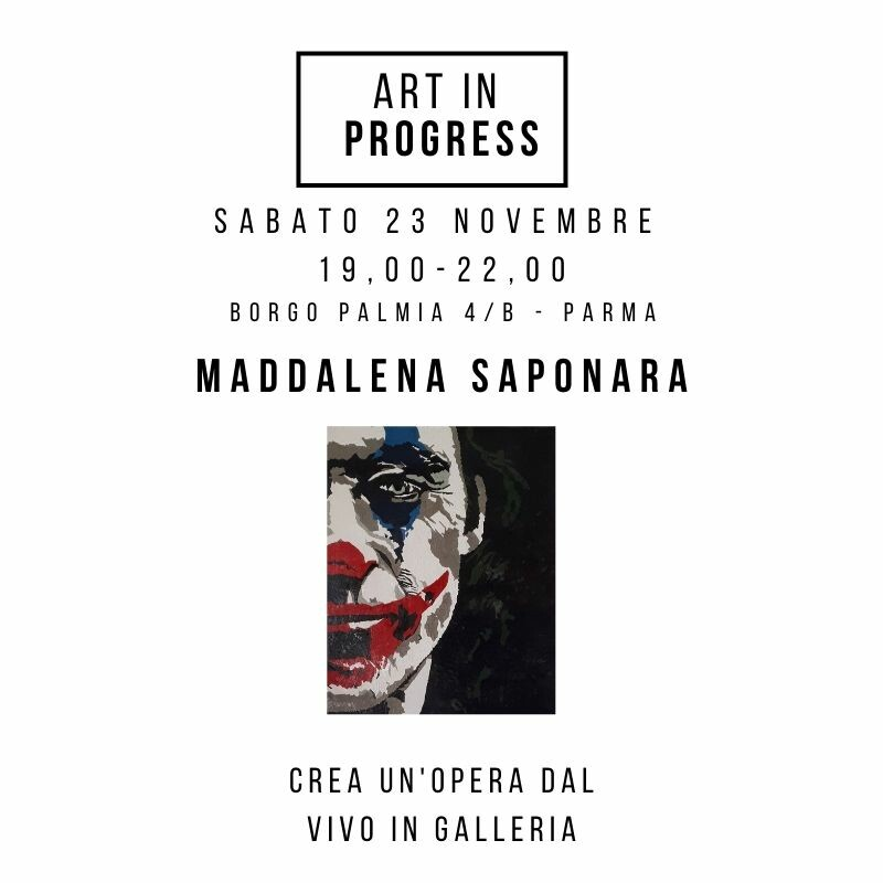 ART in PROGRESS  LIVE PAINTING   MADDALENA SAPONARA  crea un'opera dal vivo in galleria!