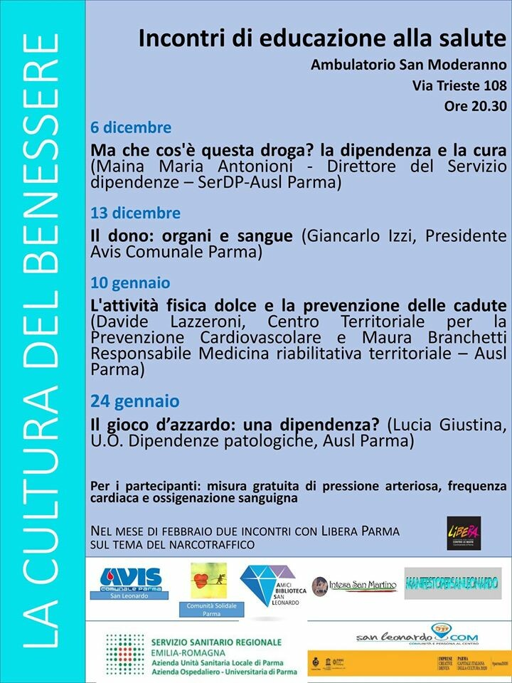 Incontri di educazione sanitaria a Parma