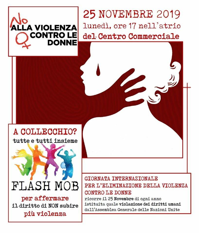 Flash mob contro la violenza sulle donne a Collecchio
