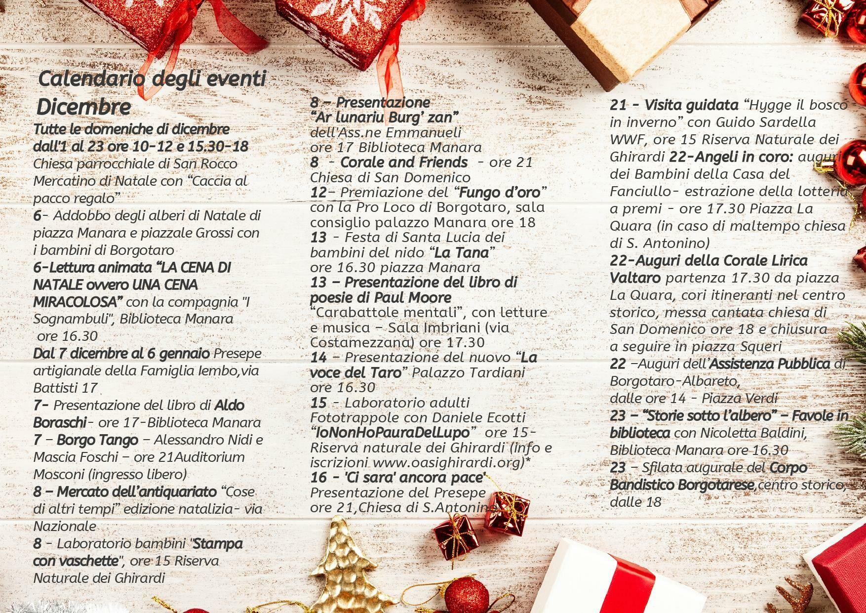 Natale al borgo: programma dal 6 al 23 dicembre