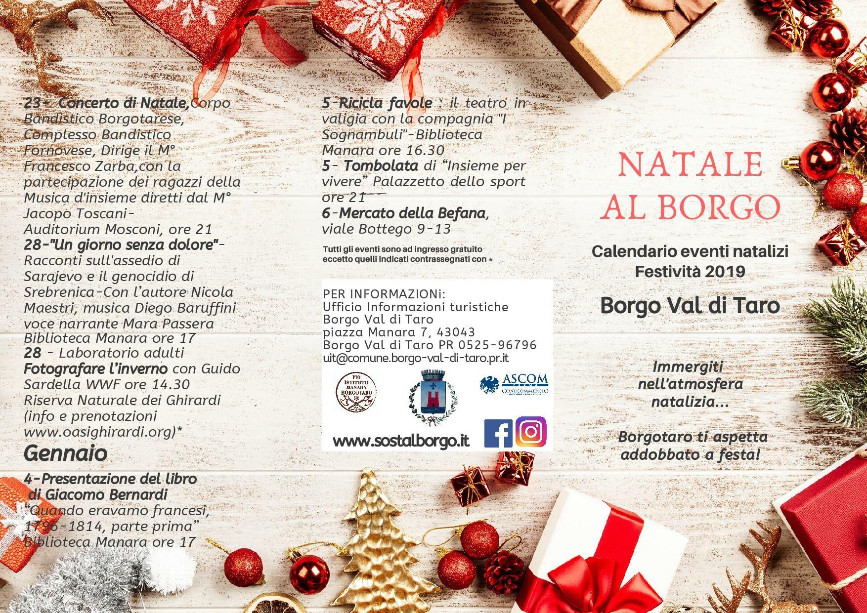 Natale al borgo: programma dal 23 dicembre al 6gennaio