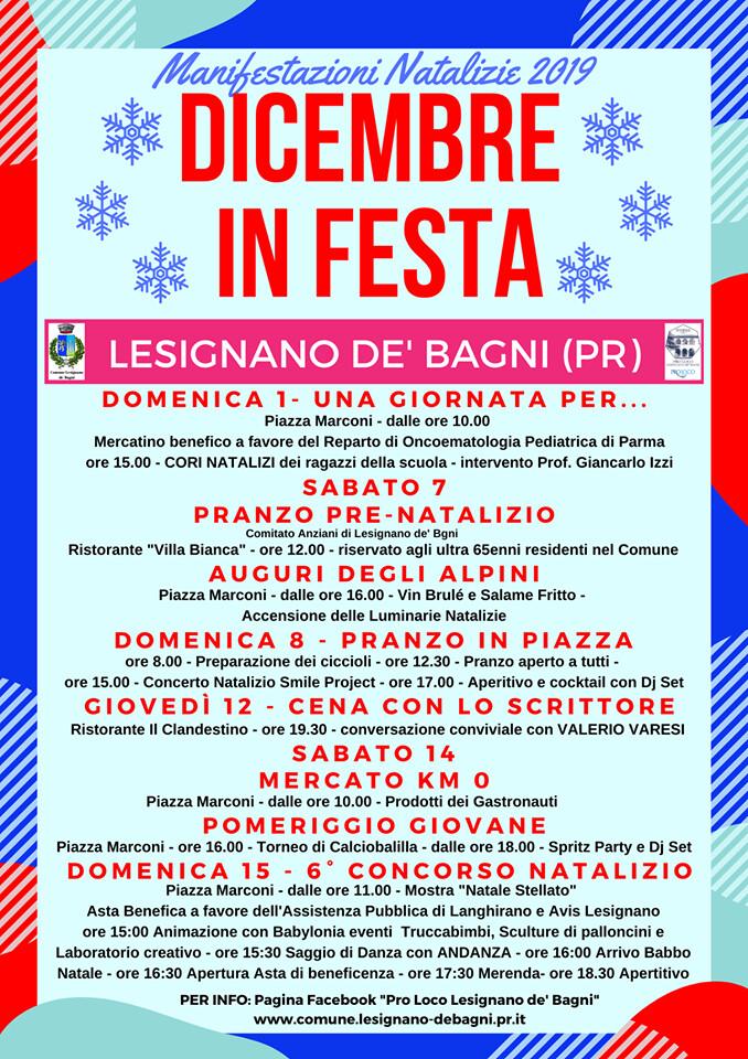 DICEMBRE IN FESTA a LESIGNANO DE' BAGNI