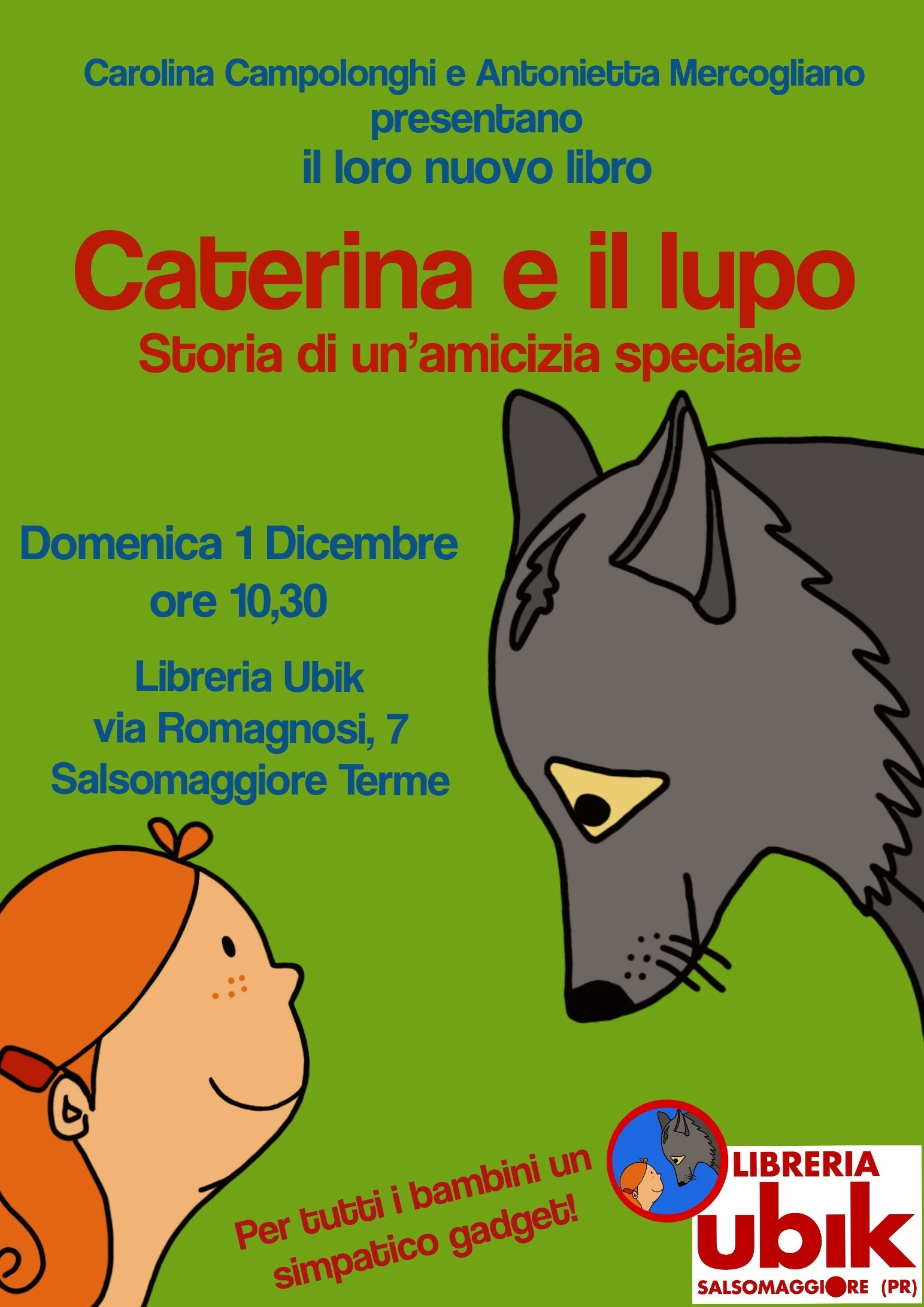 Presentazione del libro Caterina e il Lupo. con le autrici Carolina Campolonghi e Antonietta Mercogliano