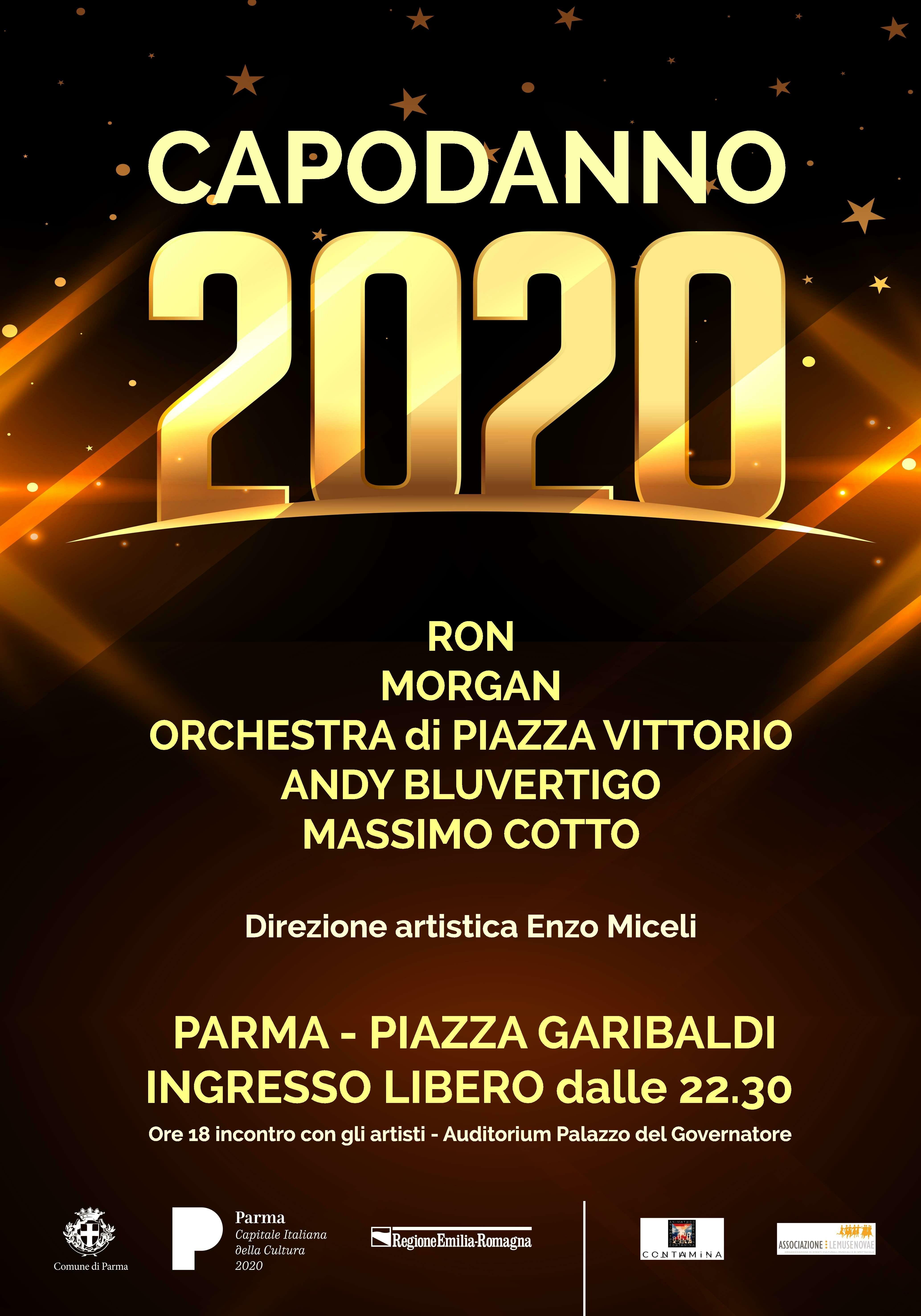 Capodanno a Parma: Ron, Morgan, Andy, l'orchestra di piazza Vittorio e Massimo Cotto per il concerto in piazza Garibaldi