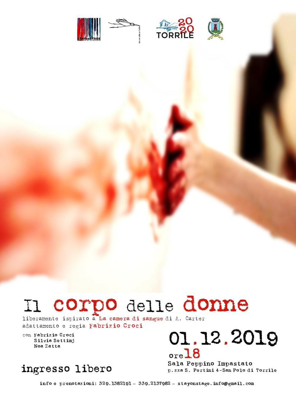 'Il corpo delle donne'  spettacolo in occasione della Giornata internazionale  contro la violenza di genere.