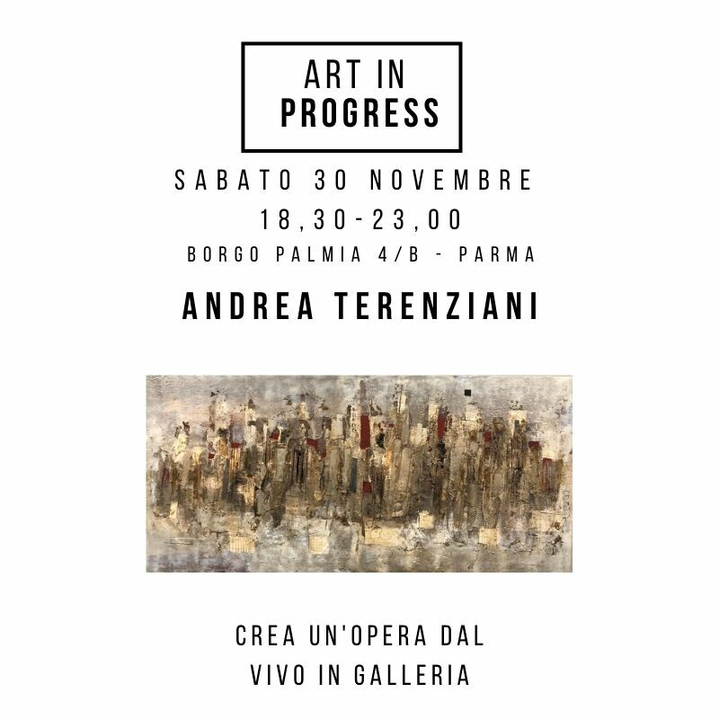 ART in PROGRESS  LIVE PAINTING  ANDREA TERENZIANI  crea un'opera dal vivo in galleria!