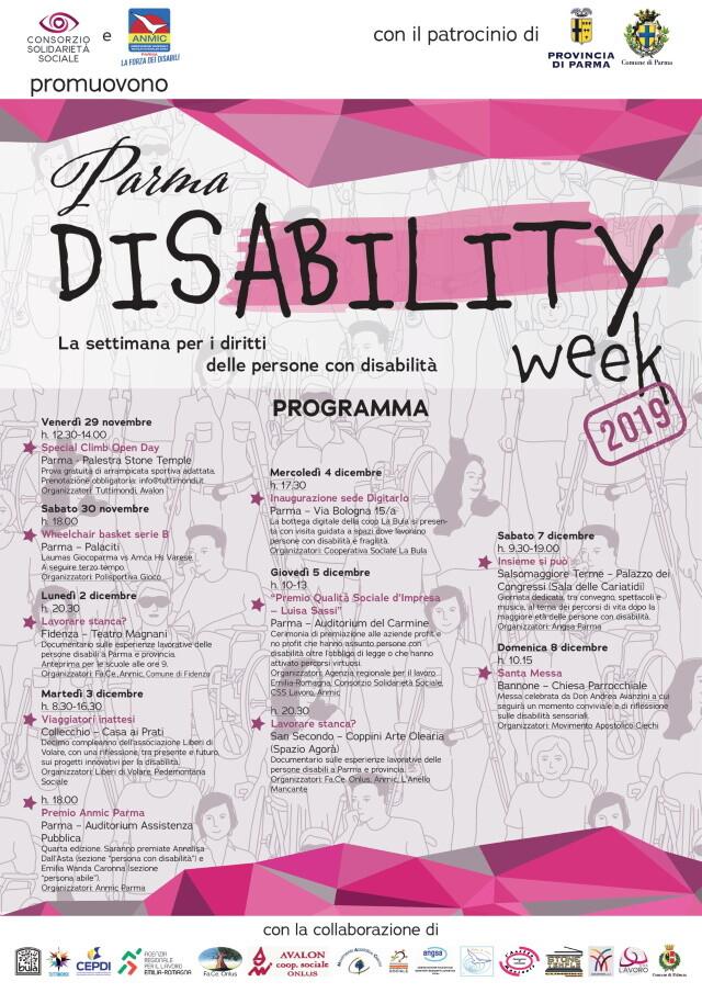 PARMA disABILITY WEEK: DIECI EVENTI PER LA CULTURA DELLA DISABILITÀ